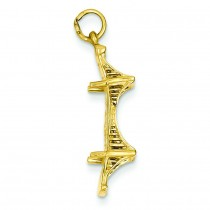 Mackinac Bridge Charm in 14k Yellow Gold