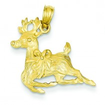 Reindeer Pendant in 14k Yellow Gold