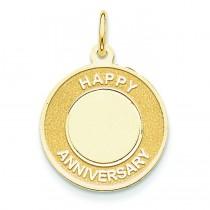 Happy Anniversary Charm in 14k Yellow Gold