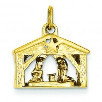 Nativity Charm in 14k Yellow Gold