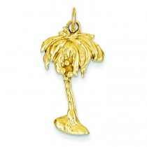 Palm Tree Charm in 14k Yellow Gold