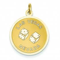 Las Vegas Disc Charm in 14k Yellow Gold