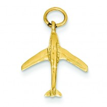 Jet Charm in 14k Yellow Gold