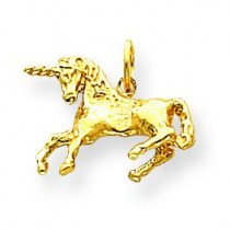 Unicorn Charm in 14k Yellow Gold