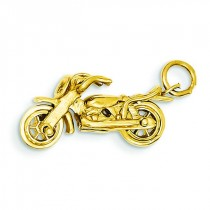 Motorcycle Charm in 14k Yellow Gold