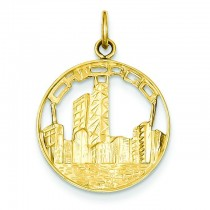 Chicago Skyline Charm in 14k Yellow Gold
