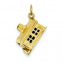 Schoolhouse Charm in 14k Yellow Gold