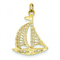 Sailboat Charm in 14k Yellow Gold
