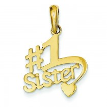 Sister Pendant in 14k Yellow Gold