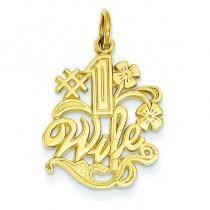Wife Charm in 14k Yellow Gold
