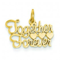 Together Forever Charm in 14k Yellow Gold