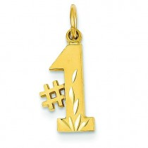 Talking Diamond Cut Charm in 14k Yellow Gold