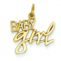 Baby Girl Charm in 14k Yellow Gold