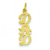 Dad Charm in 14k Yellow Gold