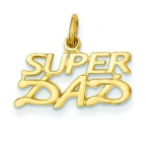 Super Dad Charm in 14k Yellow Gold