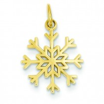 Snowflake Charm in 14k Yellow Gold