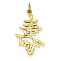 Long Life Charm in 14k Yellow Gold