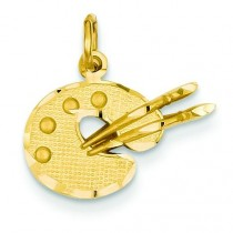 Artist Palette Charm in 14k Yellow Gold