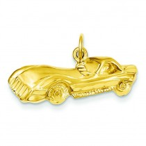 Sports Car Charm in 14k Yellow Gold