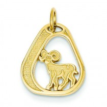 Aries Charm in 14k Yellow Gold