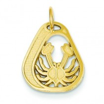Cancer Charm in 14k Yellow Gold