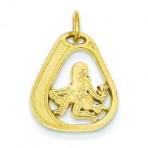 Virgo Charm in 14k Yellow Gold