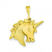 Unicorn Head Charm in 14k Yellow Gold