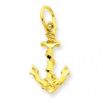 Anchor Charm in 14k Yellow Gold