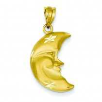 Moon Charm in 14k Yellow Gold