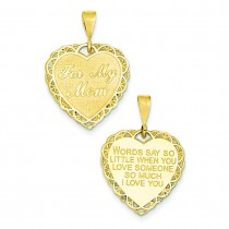 For My Mom Charm in 14k Yellow Gold