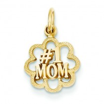 Mom Charm in 14k Yellow Gold