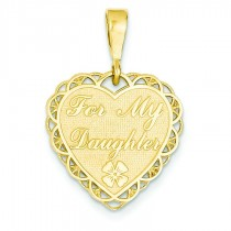For My Daughter Charm in 14k Yellow Gold