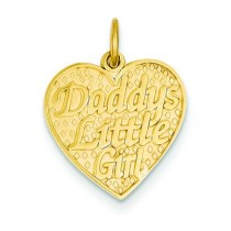 Daddy Little Girl Charm in 14k Yellow Gold