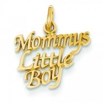 Mommy Little Boy Charm in 14k Yellow Gold