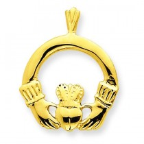 Claddagh Pendant in 14k Yellow Gold