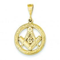 Masonic Pendant in 14k Yellow Gold
