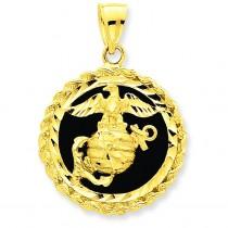Onyx Marine Charm in 14k Yellow Gold