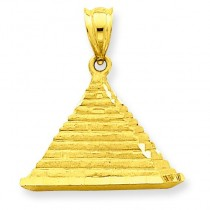 Pyramid Charm in 14k Yellow Gold