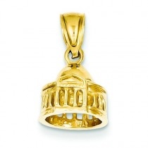 Jefferson Memorial Pendant in 14k Yellow Gold