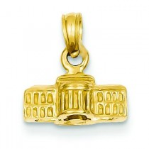 White House Pendant in 14k Yellow Gold