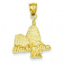 Capitol Building Pendant in 14k Yellow Gold