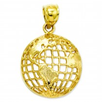 Globe Pendant in 14k Yellow Gold