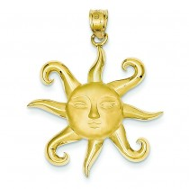 Sun Pendant in 14k Yellow Gold