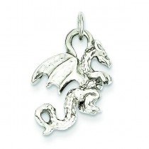 Dragon Charm in 14k White Gold