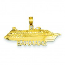 Bahamas Cruise Ship Pendant in 14k Yellow Gold