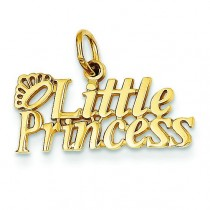 Little Princess Charm in 14k Yellow Gold