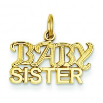 Baby Sister Charm in 14k Yellow Gold