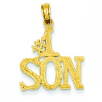 Son Pendant in 14k Yellow Gold