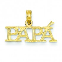 Papa Pendant in 14k Yellow Gold