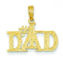 Dad Pendant in 14k Yellow Gold